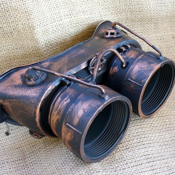 Steampunk Goggles Glasses  lenses loops cyber---RARE-----Time Travel Crazy Scientist's Oculo-Vision Tool