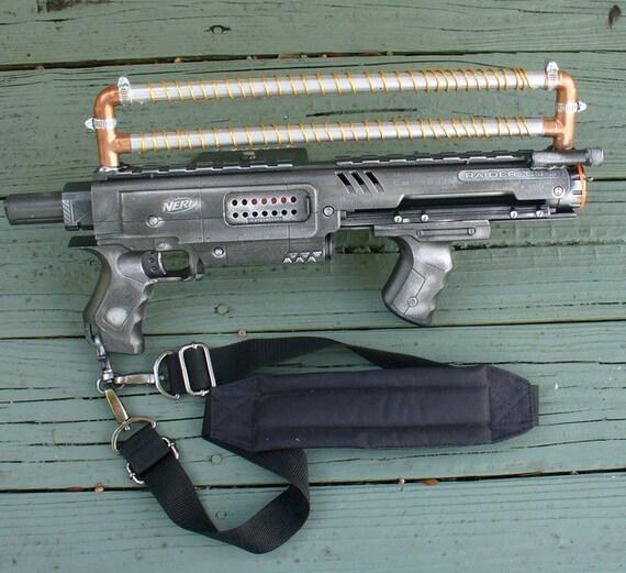 Steampunk ZOMBIE Laser Pirate Gun Nerf Raider CS-35 HALO soft dart Victorian