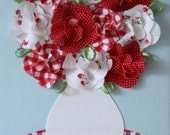 A Red Rose Day - Red Fabric Roses