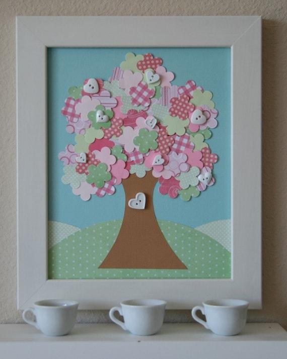 孩子的纸布拼贴画—树 - maomao - 我随心动