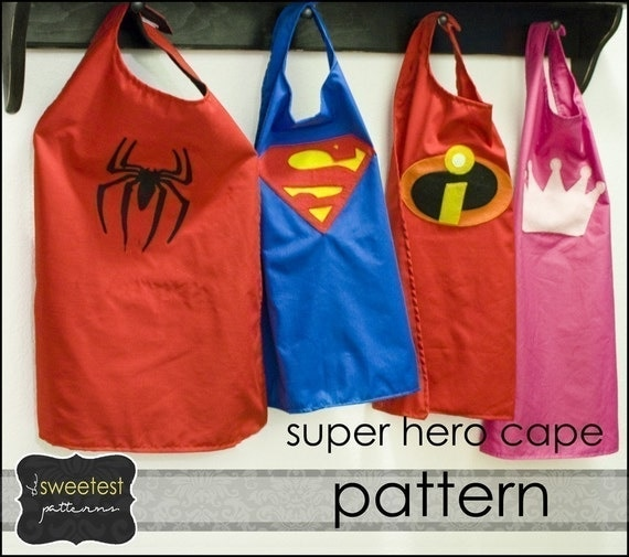 Items similar to super hero cape and mask pattern tutorial for Diy superhero cape template