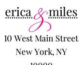 """Square Return Address Labels - 1.5"""" Square Return Address Lables -  Wedding address labels"""