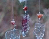 Trail Treasure- Rare RED Mojave Desert finds, repurposed glass, sun catcher, Mobile, Ornament