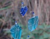 Trail Treasure- Rare BLUE Mojave Desert finds, repurposed glass, sun catcher, Mobile, Ornament