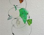 Trail Treasure-Multi-colored repurposed glass spiral, Sun catcher, Mobile, Ornament, garden art