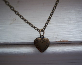 Heart Necklace - Heart Locket Necklace - Free Gift With Purchase