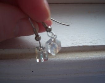 Ice Cube Earrings -Square Earrings