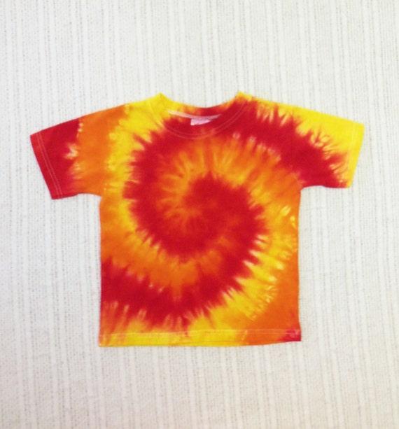 Toddler's Tie-dye T-shirt, Sz. 4T, red orange yellow