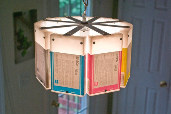 Ink-Cartridge Chandelier
