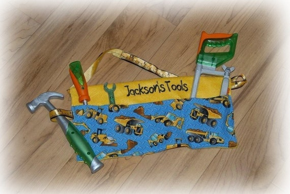 Personalized Tool Belt, Custom sizing and monogrammed name