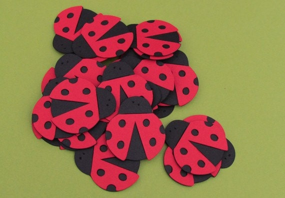 Ladybug Scrapbook Diecuts 50 count -1 1/2 inches..great for birthday inviations and decorations