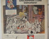 1961 - Friskies - Magazine Ad - One Hundred and One Dalmatians - Movie Ad