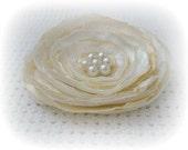 Custom made Flower - hairclip or brooche etc - choose colors -size Medium