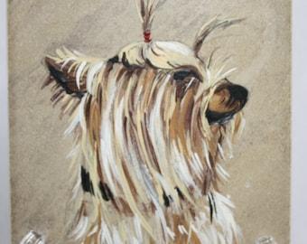 Yorkie painting-miniature original