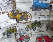 Road Rally Vintage 1950s Fabric by Waverly - 2 yds