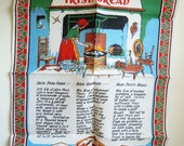 Vintage Irish Breads Linen Towel - Three Recipes - NWOT by Nelson