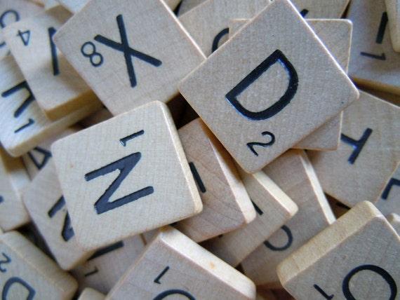 100 Vintage Scrabble Tiles