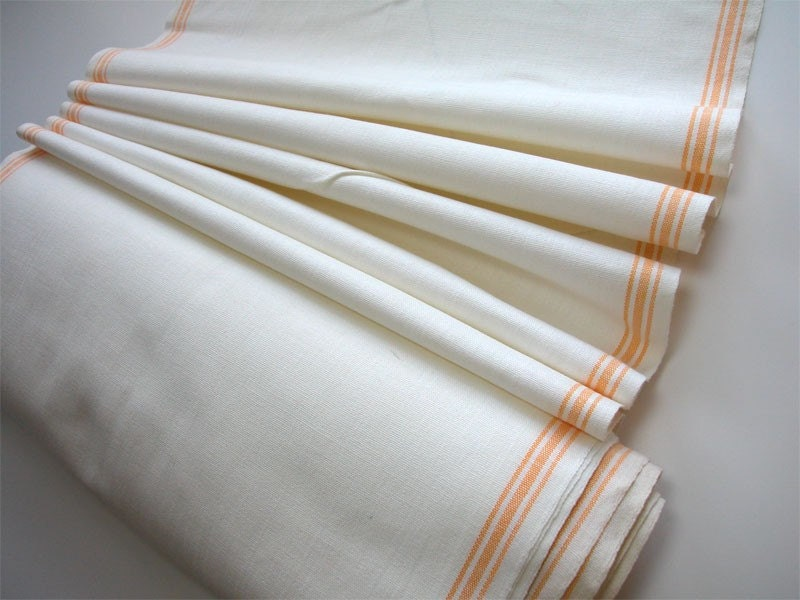Vintage Linen Tea Towel Fabric On The Bolt 1 Yard