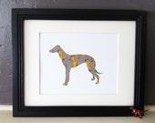 SALE The Foot Book - Greyhound Dog Vintage Silhouette