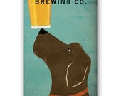 LABRADOR Brewing Company BROWN DOG graphic art giclee print 8x16 inches Signed