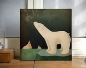 POLAR BEAR Constellations  - Gallery Wrapped Canvas Wall Art  Signed