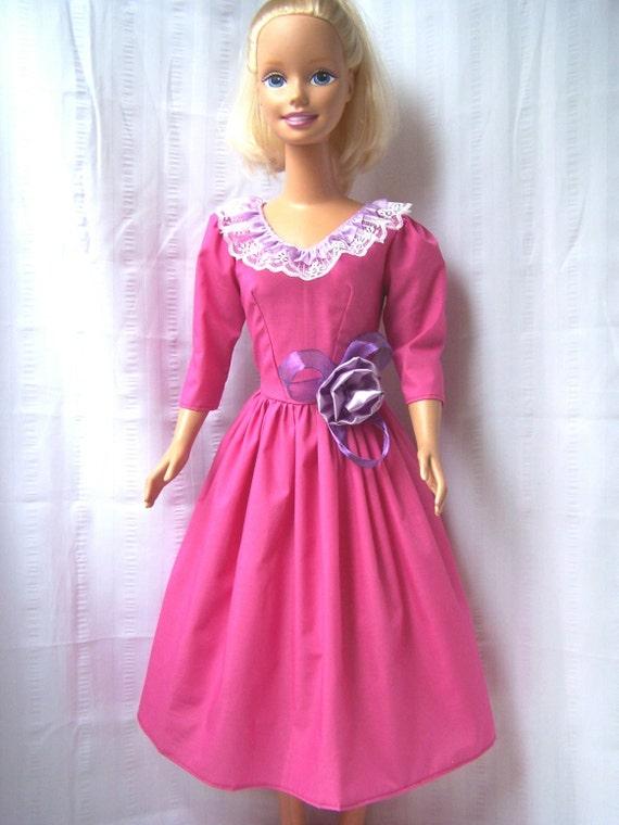 Barbie doll dress my size Barbie tall pink