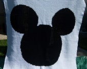 Mickey Crocheted Blanket - Twin Size - Ready to Ship - Baby Blanket