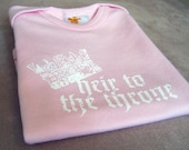 Heir to the Throne Onesie - Light Pink