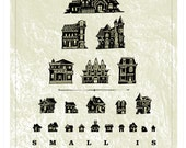 Small Houses Eye Chart, Collections Series Limited Edition Art Print