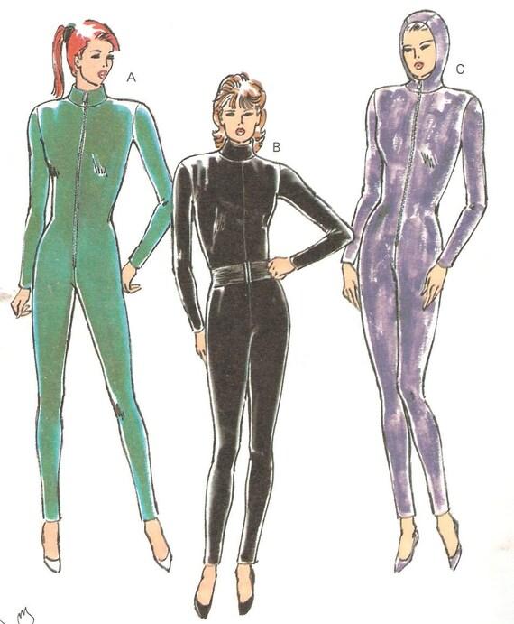 Catsuit Bodysuit Unitard Sewing Pattern Women Xs S M L By