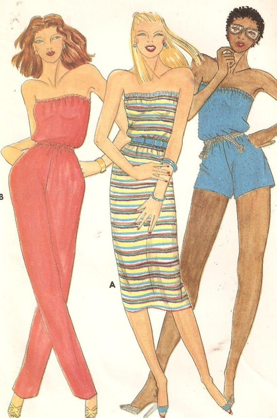 Strapless Dress Jumpsuit And Romper Sewing Pattern By Raegirl