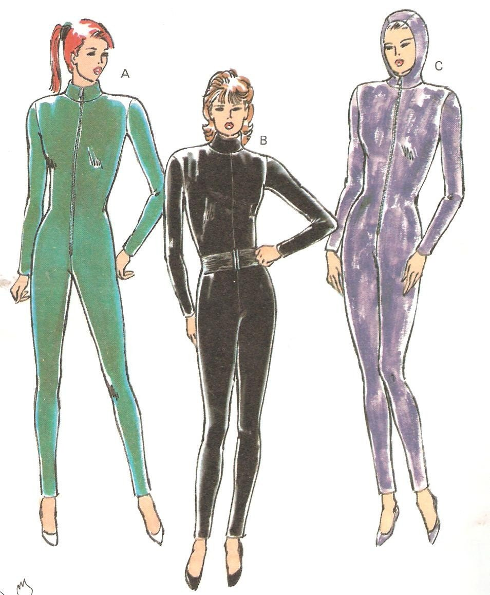 To modify the pattern to make a full-body suit, try the following: Gloves: these can be combined with the Kwik-Sew pattern for sleeves to make a one-piece arm that goes all the way to the fingers.