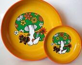 Vintage Retro Mushroom Bowl HOLD for Kristin Marie
