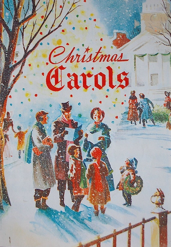 Vintage Christmas Carols Song Book by SackLunchTime on Etsy