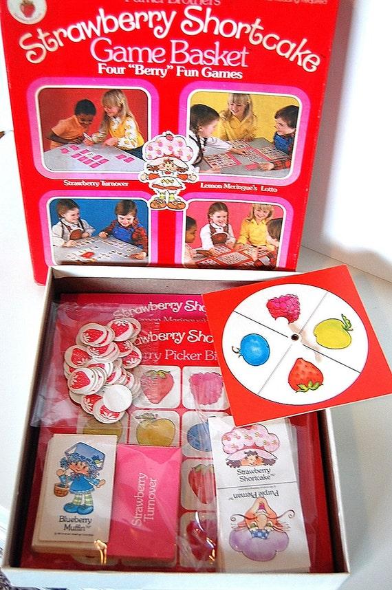 Vintage Retro Strawberry Shortcake Game 1981 Parker Brothers