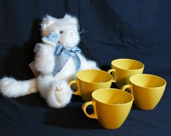 Vintage Coffee Cups - Harvest Gold Cups - set of four