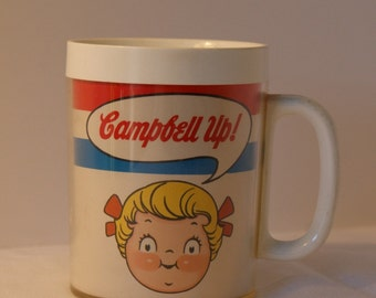 Vintage Campbell's Soup Mug - Campbell Up  -  Vintage Thermal Mug  - Campbells Soup