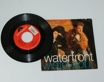 Waterfront  45 RPM Record - Cry and Saved  1989  mint condition Vintage Vinyl