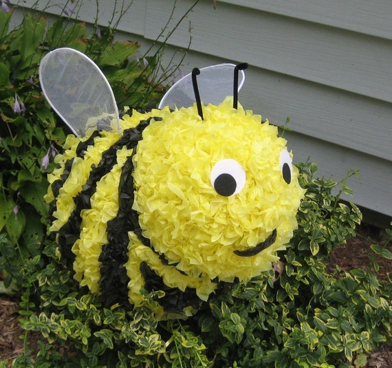 how to make a bumble bee pinata