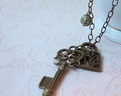 Brass Key Necklace, Perfect Gift, Everyday Jewelry