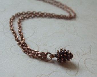 Copper Pinecone Necklace