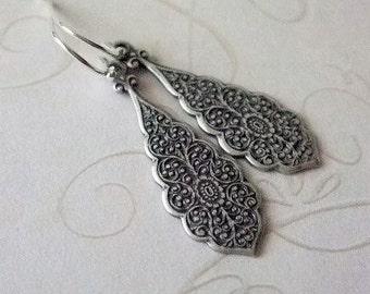 Simple Drop Earrings, Everyday,  Victorian, Gift for, Mother, Wife, Sister, Co-worker, Birthday, Anniversary, Christmas