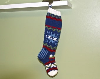 Nordic Personalized Pet Stocking - Navy
