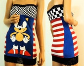 Sonic the Hedgehog Tube Top Dress (Medium Large)