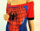 Spidey Slouch / Off Shoulder Top (Large XL)