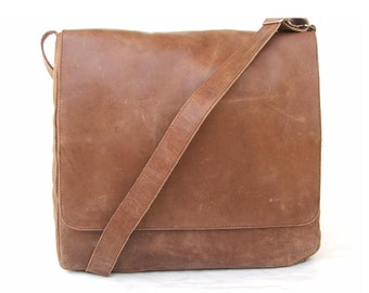 Mens messenger bag leather laptop bag Messenger bag Brown Leather  laptop bag  Leather carry on laptop bags mens messenger bag shoulder bag