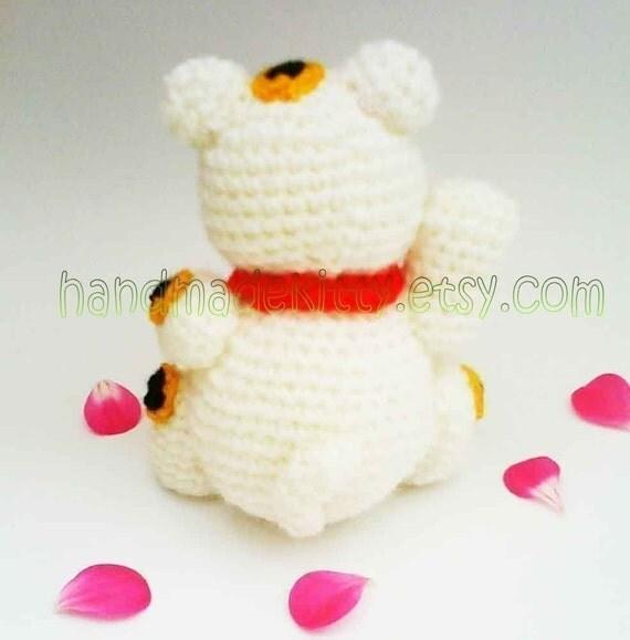 Maneki Neko Lucky Cat Amigurumi PDF Crochet Pattern from ...