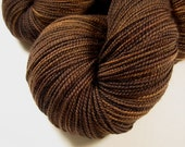 Sock Weight Superwash Merino Wool Yarn, Hand Dyed - Bark Tonal