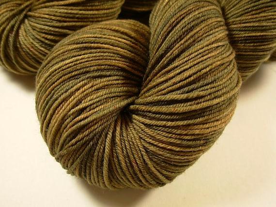 Sock Weight Superwash Merino Wool/Nylon Yarn, Hand Dyed - Oregano Semi-Solid