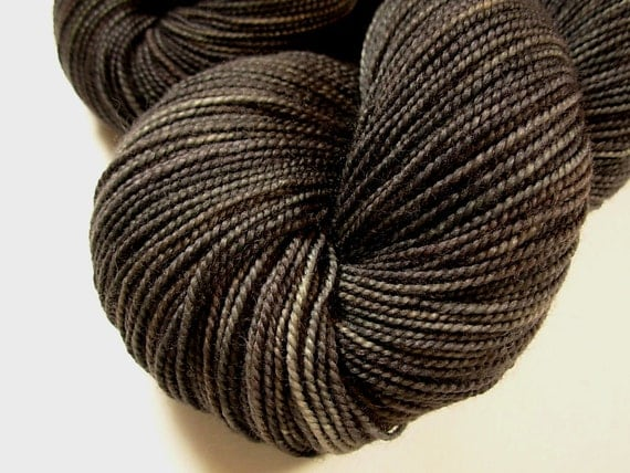 Sock Weight Superwash Merino Wool Yarn, Hand Dyed - Slate Grey Tonal